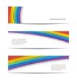 Set of rainbow background vector