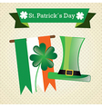 St patricks day elements on vintage background vector