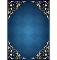 Golden pattern frames on blue background vector