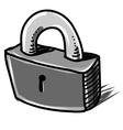 Lock cartoon sketch vector