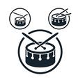 Snare drum icon single color music theme symbol vector