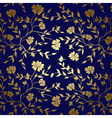 Blue and gold floral texture for background vector