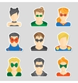 Set of avatar stickers vector