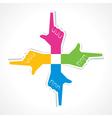 Hand frame icon concept vector
