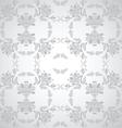 Seamless floral design grey vector