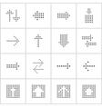 Arrows from circles vector