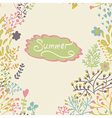 Border with abstract hand-drawn plants vector