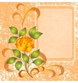 Background with rose and placard vector
