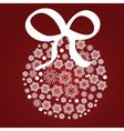 Xmas ball of snowflake vector