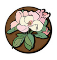 Apple flower clip art brown vector