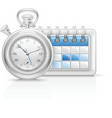 Calendar clock icon vector