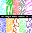 10 retro patterns textures set 14 vector