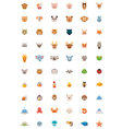 Big animals icon set vector
