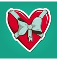 Heart with bow vector