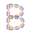 Letter b made in rainbow colors vector