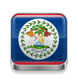 Metal icon of belize vector