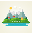 Nature landscape flat icon vector