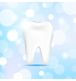 Tooth with bokeh vector