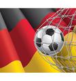 Soccer goal and german flag vector