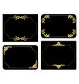 Black and gold frames - set vector