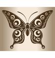Monochrome butterfly vector