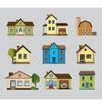 Colourful home icon vector