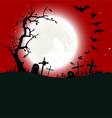 Halloween background destroyed cemetery vector