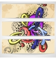 Abstract colored graffiti pattern vector