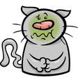 Sick cat cartoon vector