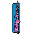Long orchid clip art blue vector