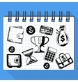 Sketch of business concept and money vector