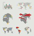 Atlas map infographics vector