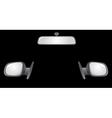Car mirrors vector
