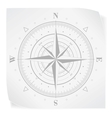 Compass rose over white paper sticker isolated on vector