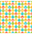 Seamless pattern with color smileys vector