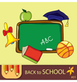 Colorful school background vector
