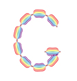 Letter g made in rainbow colors vector