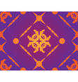 Yellow ornament on purple background vector