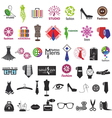 Series of logos for clothing and fashion vector
