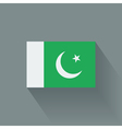 Flat flag of pakistan vector