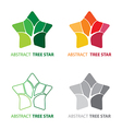 Abstract tree star symbol vector