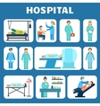 Medical flat pictograms set vector