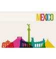 Travel m�xico destination landmarks skyline vector