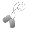 Dog tags vector