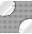 Polished metal steel vector
