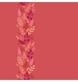 Red leaves vertical seamless pattern background vector