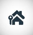 Home key icon vector