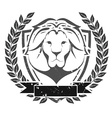 Grunge lion head emblem vector