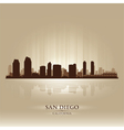 San diego california skyline city silhouette vector