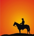 Cowboy silhouettes vector